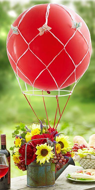 Easy Balloon Centerpieces