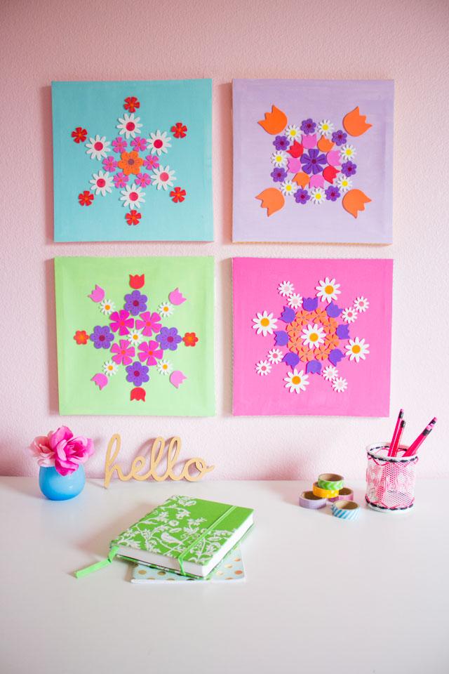 12 DIY Wall Art Ideas For Spring Home Dcor