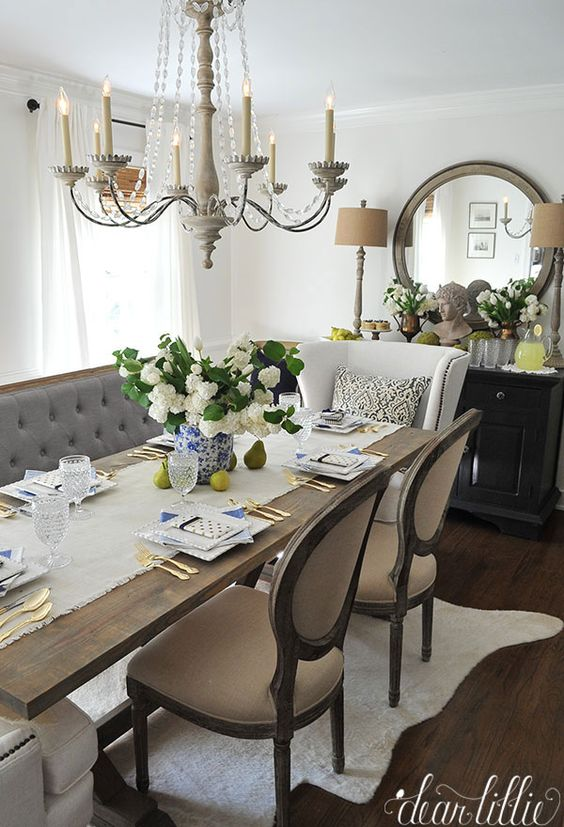 15 French Country Dining Space Dcor Ideas Shelterness