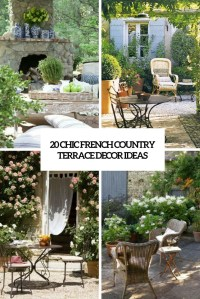 Interesting French Country Patio Decor Ideas