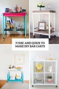 9 Chic And Quick To Make DIY Bar Carts