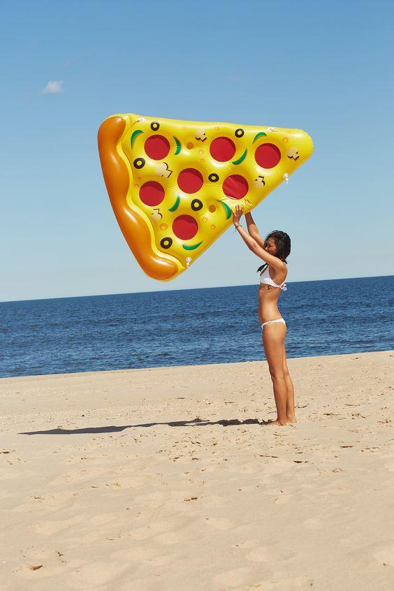 pizza slice float for food fans
