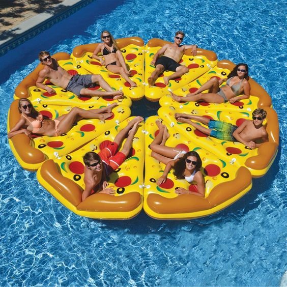 what can be better for a party than pizza floats for everyone