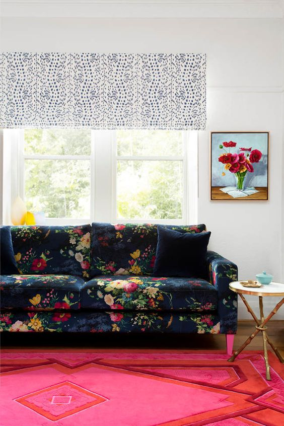 sofa frame replica george nelson marshmallow 20 timeless and chic floral print upholstery ideas ...
