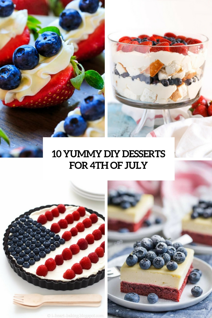 yummy diy desserts for 4th of july cover