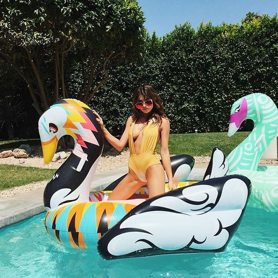 coachella swan floats for badasses