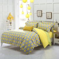 Grey And Light Yellow Bedding