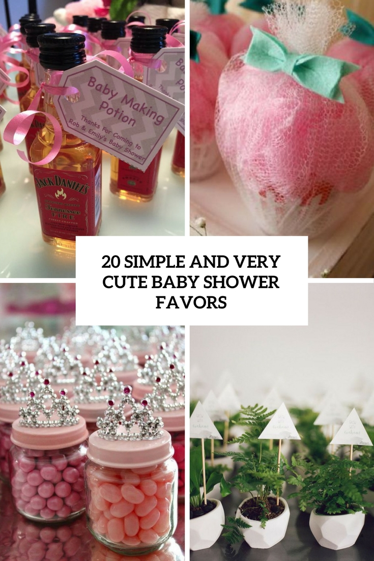 20 Simple And Very Cute Baby Shower Favors