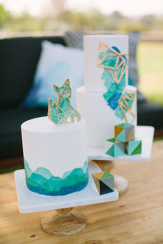 20 Cool Geometric Baby Shower Dcor Ideas  Shelterness