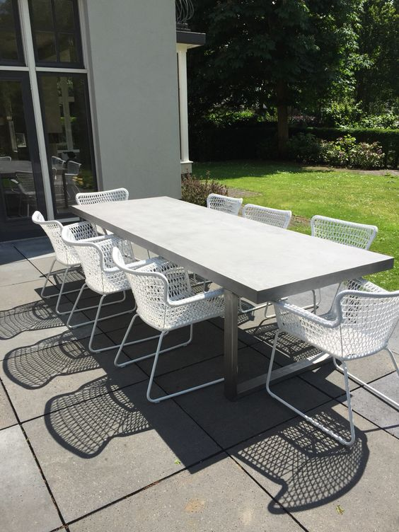 18 Modern Outdoor Dining Space Furniture Ideas  Shelterness