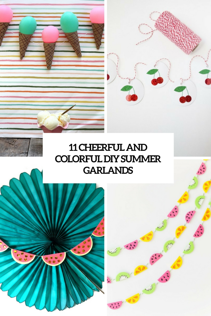 cheerful and colorful diy summer garlands cover