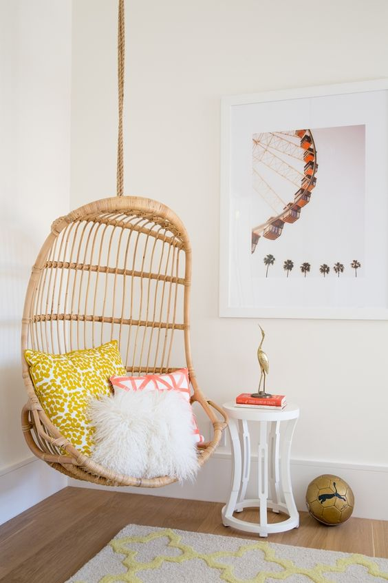hanging chair stand white desk bed bath and beyond 20 wicker chairs for a vacation vibe - shelterness