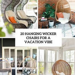 Hanging Wicker Chair Dorm Chairs Walmart 20 For A Vacation Vibe Shelterness Cover