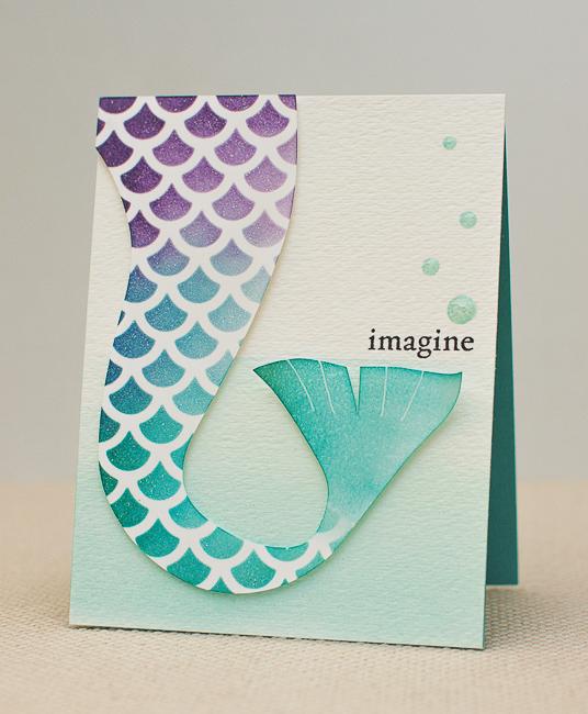 DIY mermaid tail card (via https:)