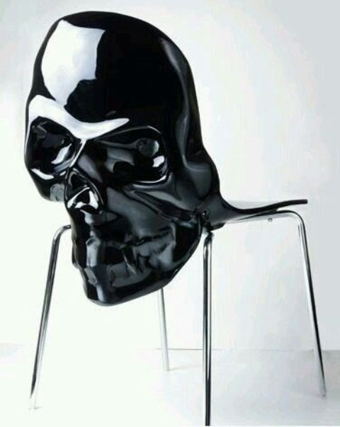 black skull chair diy upholstery 15 home decor ideas not only for halloween shelterness large a gothic touch