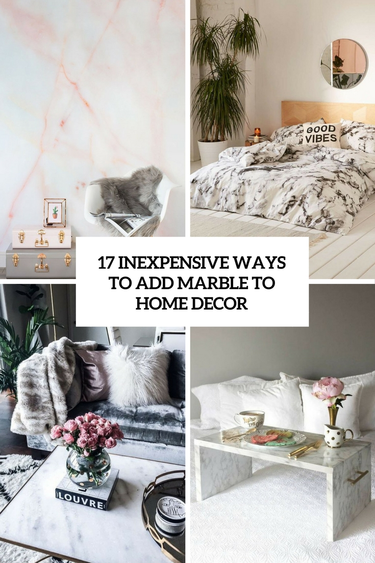 Wallpaper Cute Plain 17 Inexpensive Ways To Add Marble To Home D 233 Cor Shelterness