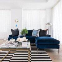 Blue Velvet Sectional Sofa Luxury Navy Blue Velvet