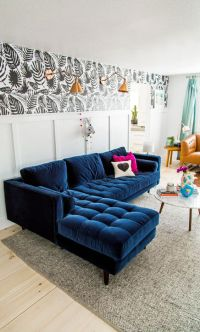 15 Trendy Velvet Sofas For A Refined Touch - Shelterness