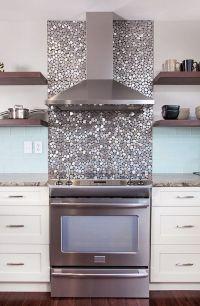 Metallic Backsplash - Home Design