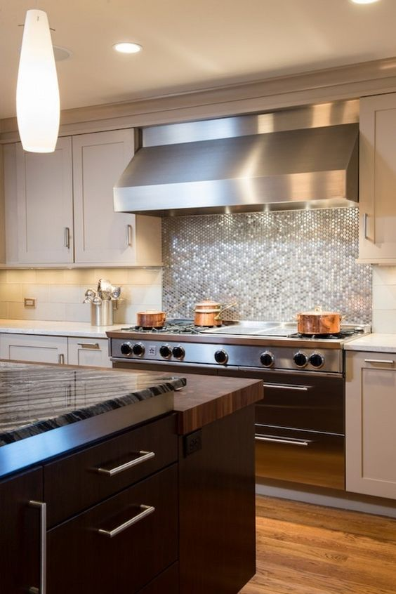 15 Chic Metallic Kitchen Backsplash Ideas  Shelterness