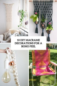 10 DIY Macrame Decorations For A Boho Feel