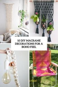 10 DIY Macrame Decorations For A Boho Feel - Shelterness