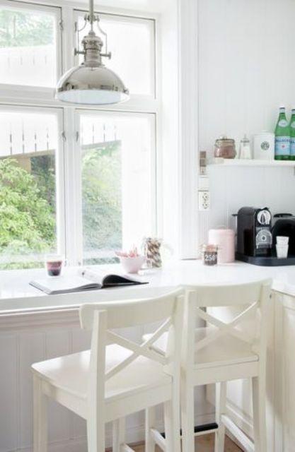 15 Inspiring Kitchen Windowsill Breakfast Zones  Shelterness