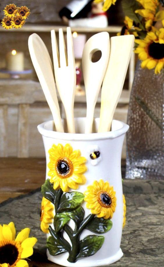 15 Cheerful Sunflower Kitchen Decor Ideas  Shelterness