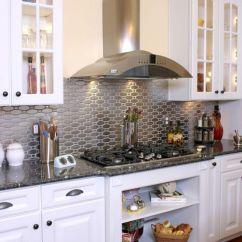 Modern Kitchen Backsplash Deign 15 Chic Metallic Ideas Shelterness Shiny Metal For A