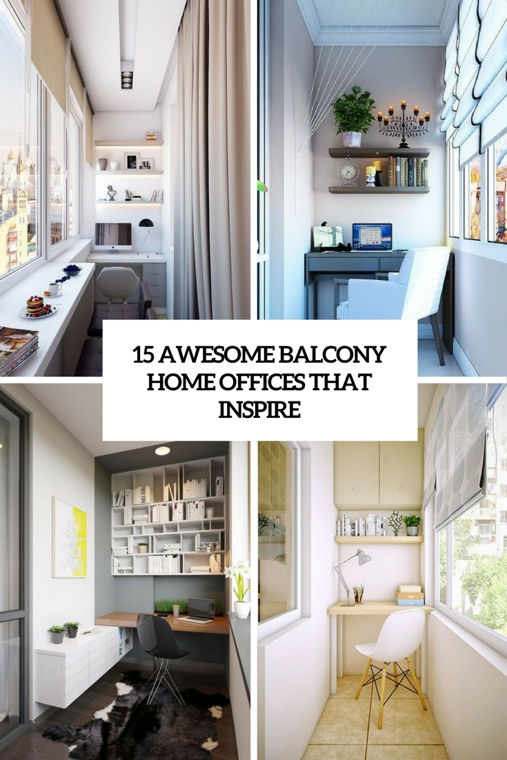 15 Awesome Balcony Home Offices That Inspire  Shelterness