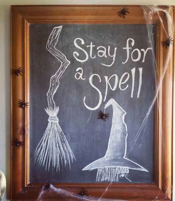 15 Cool Chalkboard Halloween Decor Ideas Shelterness