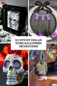 10 Cute DIY Dollar Store Halloween Decorations - Shelterness