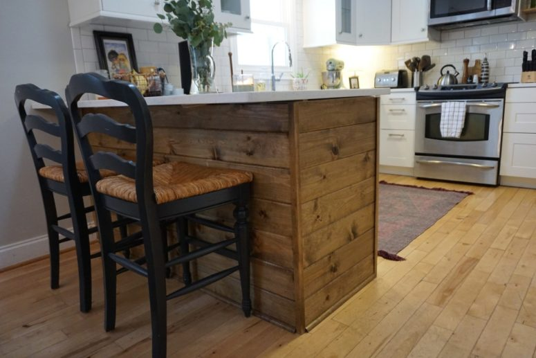 kitchen islands ikea moen sink faucets 10 awesome diy from items shelterness island with a rustic touch via dahliasanddimes com