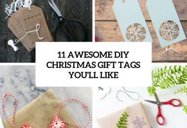 11 Awesome DIY Christmas Gift Tags You'll Like