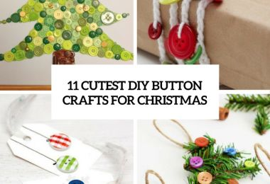 11 Cutest DIY Button Crafts For Christmas