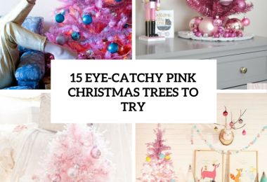15 Eye-Catchy Pink Christmas Trees To Try