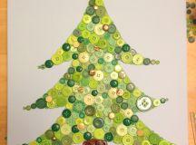 DIY button Christmas tree art (via bustedbutton.com)