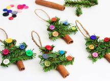 DIY cinnamon sticks and buttons ornaments (via blog.consumercrafts.com)