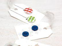 DIY button gift tags (via www.coffeeandvanilla.com)