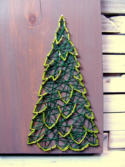 Diy Dimensional Christmas String Art Tree Via Ninered Spot Ru
