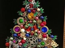 a chic colorful jewelry Christmas tree in bold shades of all kinds