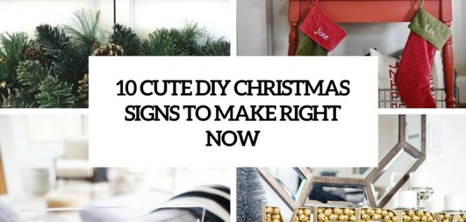 10 Cute DIY Christmas Signs To Make Right Now