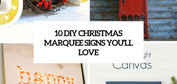 10 DIY Christmas Marquee Signs You'll Love