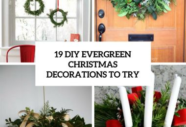 19 DIY Evergreen Christmas Decorations To Try