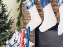DIY no sew plaid stockings (via placeofmytaste.com)