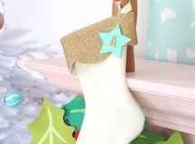 DIY creamy velvet and glitter stocking (via damasklove.com)