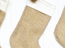 DIY simple burlap Christmas stockings (via tarynwhiteaker.com)