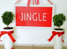DIY faux stained holiday sign in red and white (via tatertotsandjello.com)