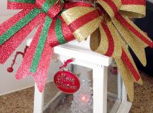 DIY colorful and decorated Christmas lantern (via theorganisedhousewife.com.au)