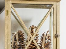 DIY Christmas lantern with large pinecones (via www.worthingcourtblog.com)